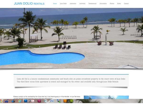Juan Dolio Rentals designed by Stant Design RI website designer