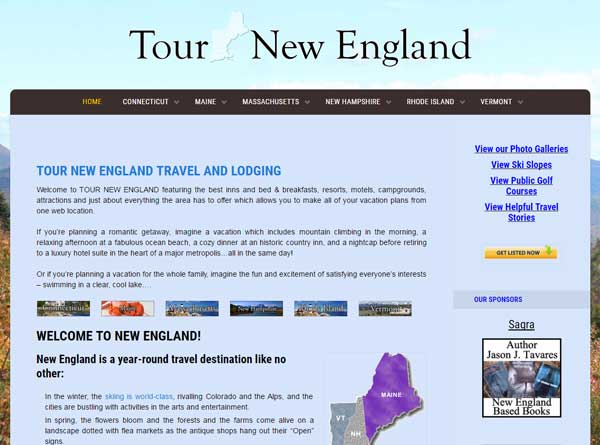 Tour New England designed by Affordable web designer in Cranston RI