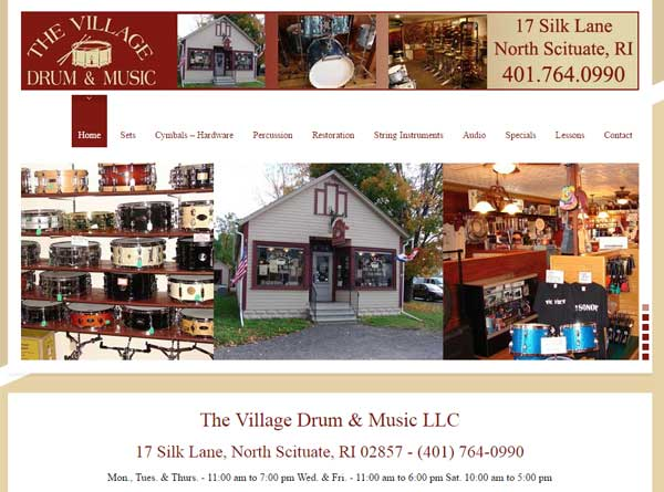 Village Drum and Music built by Stant Design Cranston RI
